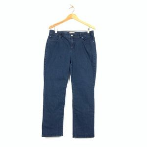 Chicos 2 Short Fabulously Slimming Dark Wash Jeans